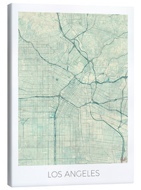 Canvas print  Los Angeles Map Blue - Hubert Roguski