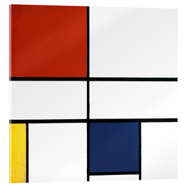 Acrylic print  Composition c no iii with red yellow and blue - Piet Mondriaan
