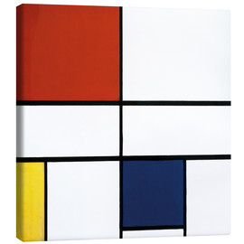 Canvas print  Composition c no iii with red yellow and blue - Piet Mondriaan