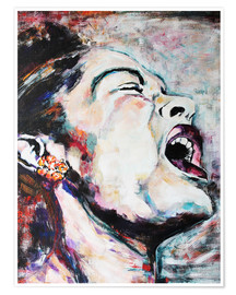 Premium poster  Billie Holiday, I'm a Fool to Want You - Christel Roelandt