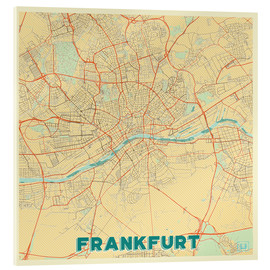 Acrylic print  Frankfurt Map Retro - Hubert Roguski
