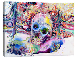 Canvas print  A Skull in the Forest - Josh Byer