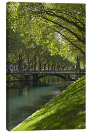 Canvas print  Dusseldorf on the Rhine - Chris Seba