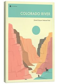 Canvas print  GRAND CANYON NATIONAL PARK POSTER - Jazzberry Blue