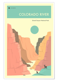 Premium poster  GRAND CANYON NATIONAL PARK POSTER - Jazzberry Blue