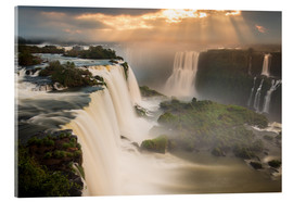 Acrylic print  Sunset at Iguazu Falls - Alex Saberi