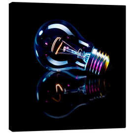 Canvas print  Lightbulb with Reflection