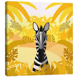 Canvas print  Habitat of the zebra - Kidz Collection