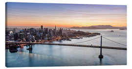 Canvas print  Aerial view of San Francisco at sunset, USA - Matteo Colombo