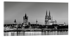 Acrylic print  Magnificent Cologne black and white - Michael Valjak