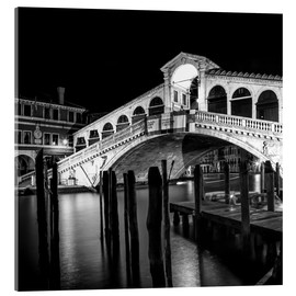 Acrylic print  VENICE Rialto Bridge at Night - Melanie Viola