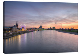 Canvas print  Dusseldorf Skyline, Germany - Michael Valjak