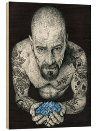 Wood print  Breaking Bad, Heisenberg - Inked Ikons