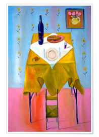 Premium poster  Small Chair and Big Table - Diego Manuel Rodriguez