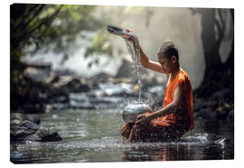 Canvas print  Monk at the Water