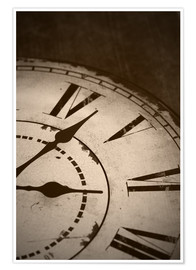 Premium poster  picture of an old vintage clock