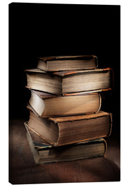 Canvas print  Old books in a pile