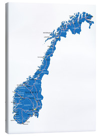 Canvas print  Map Norway