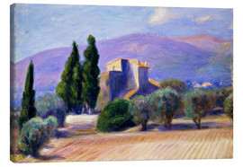Canvas print  Farm House in Provence - William James Glackens