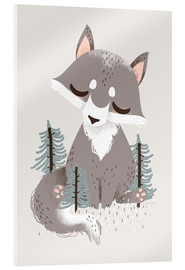 Acrylic print  Animal friends - The wolf - Kanzilue