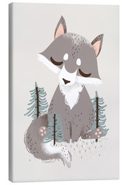 Canvas print  Animal friends - The wolf - Kanzilue