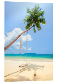 Acrylic print  Palm Swing