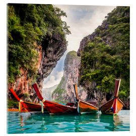 Acrylic print  Railay beach in Krabi Thailand