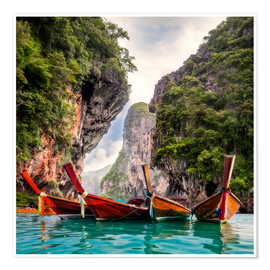 Premium poster Railay beach in Krabi Thailand