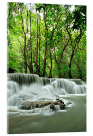 Acrylic print  Waterfall in forest of Thailand