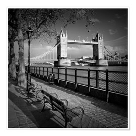 Premium poster  LONDON Tower Bridge - Melanie Viola