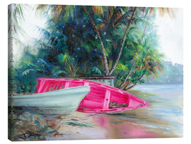 Canvas print  pink boat on side - Jonathan Guy-Gladding