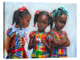 Canvas print  three girls - Jonathan Guy-Gladding