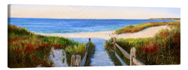 Canvas print  long beach path - Jonathan Guy-Gladding