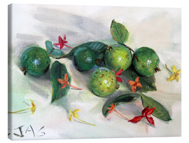 Canvas print  guavas and ixora2 - Jonathan Guy-Gladding