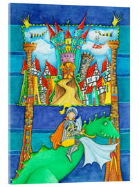 Acrylic print  Knights Dragon and the Knight's Castle - Atelier BuntePunkt