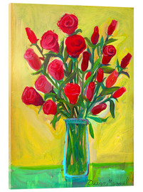 Acrylic print  Red roses III - Diego Manuel Rodriguez