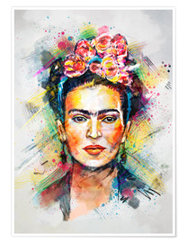 Premium poster  Frida Flower Pop - Tracie Andrews