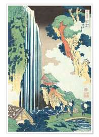 Premium poster  Ono Waterfall on the Kisokaido - Katsushika Hokusai