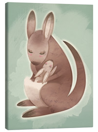Canvas print  Mamma and baby kangaroo - Ashley Verkamp