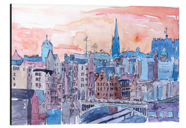 Aluminium print  Edinburgh Sunset Over Old Town Scotland - M. Bleichner