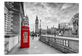 Acrylic print  Red telephone box, London - euregiophoto