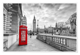 Premium poster  Red telephone box, London - euregiophoto