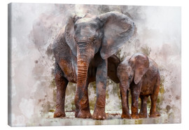 Canvas print  Elephants - Peter Roder