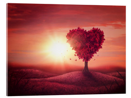 Acrylic print  Tree with heart shape - Elena Schweitzer