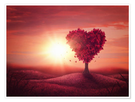 Premium poster  Tree with heart shape - Elena Schweitzer