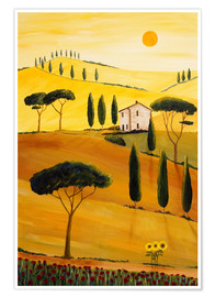Premium poster  Colored Tuscany - Christine Huwer