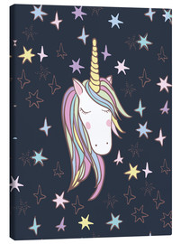 Canvas print  Unicorn at night - Kidz Collection