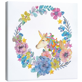 Canvas print  Happy unicorn - Kidz Collection