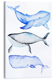 Canvas print  Three whales - Kidz Collection