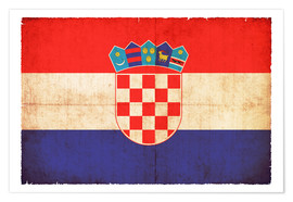 Premium poster  Old flag of Croatia in grunge style - Christian Müringer